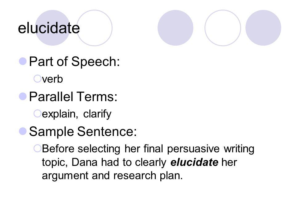 Vocabulary Week 7 Introducing Our Week 7 Words Elucidate Plethora