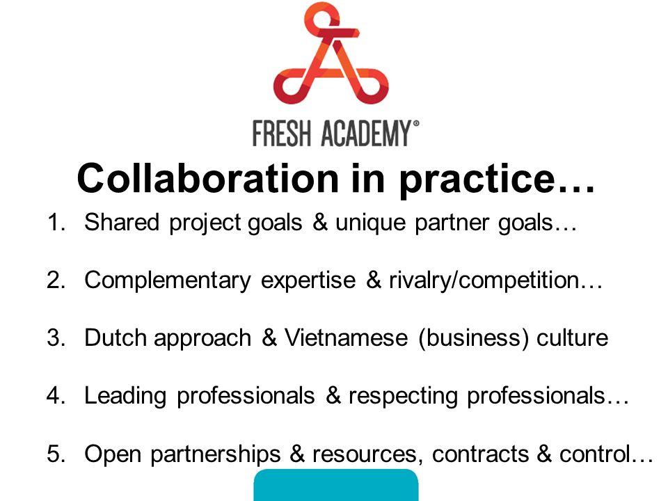 Fresh Academy in Vietnam Dutch-Vietnamese collaboration in the