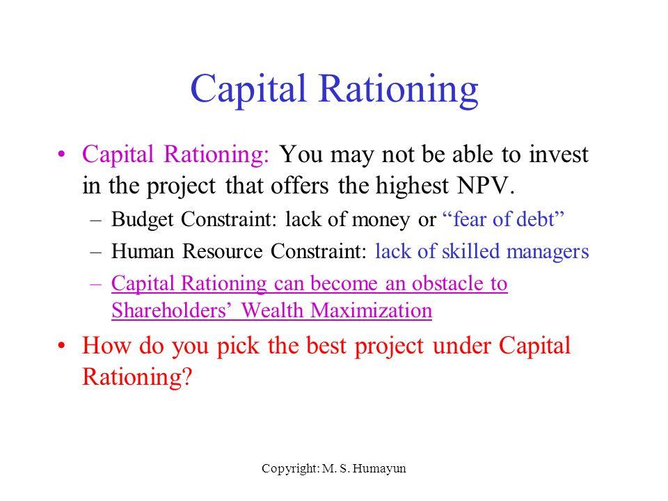 explain capital rationing