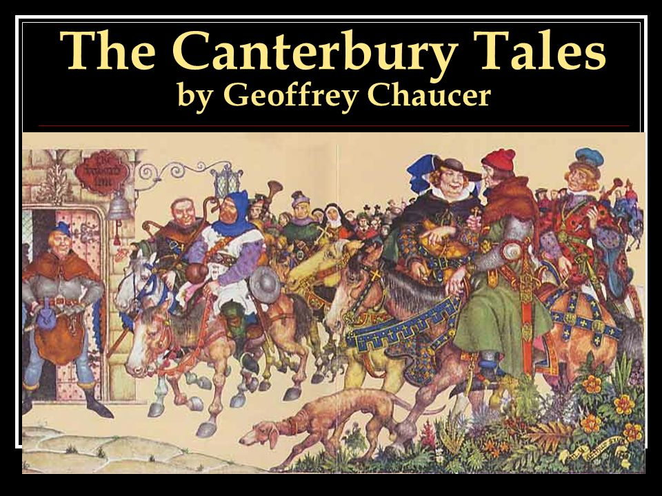 an analysis of canterbury tales by chaucer The canterbury tales by geoffrey chaucer is a series of different kinds of stories told by a group of imaginary pilgrims going to canterbury: the cathedral, a place.