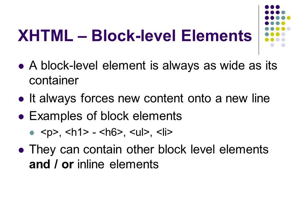 Xhtml Css 2 By Trevor Adams Last Week Xhtml Extensible Hypertext