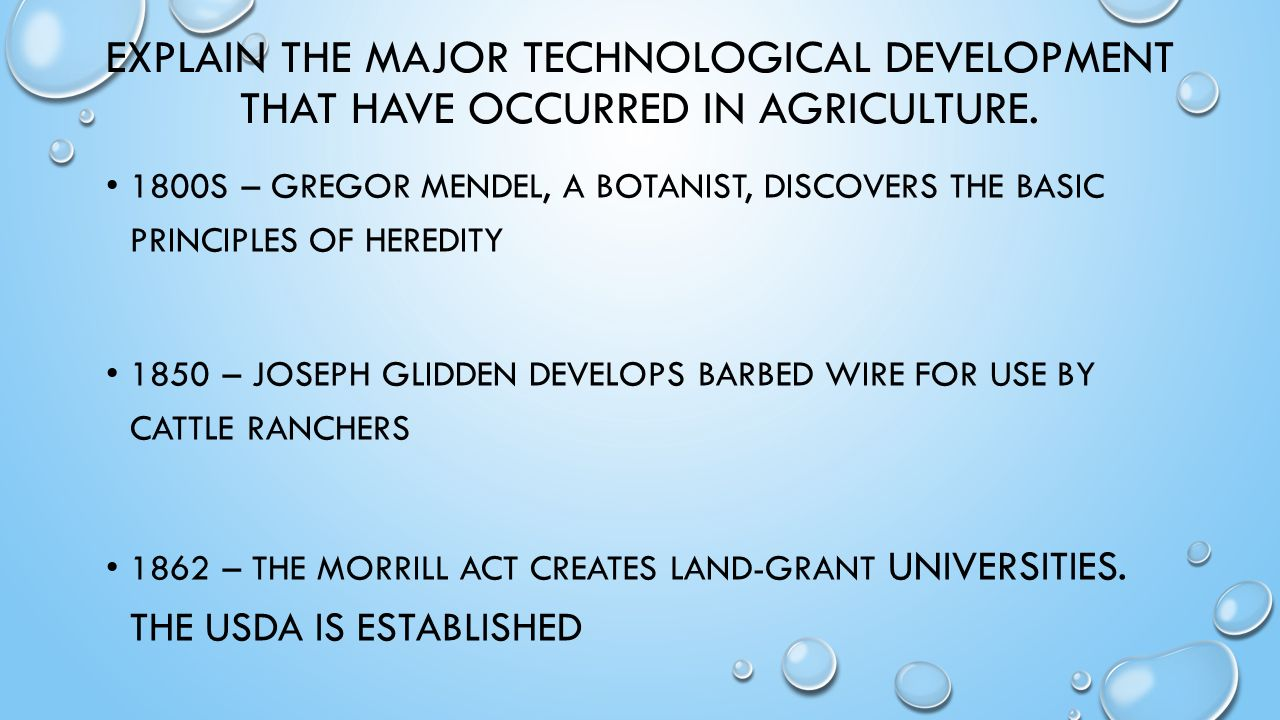 DETERMINING THE HISTORY OF AGRICULTURE. DEFINE AGRICULTURE AND ...