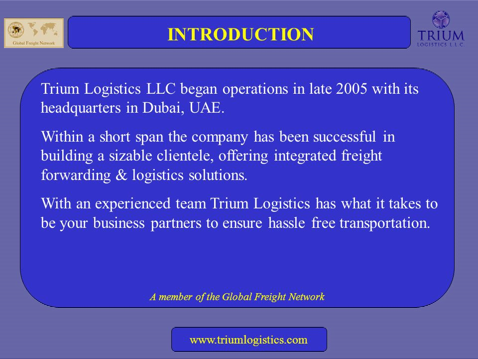 A Member of:  A member of the Global Freight Network