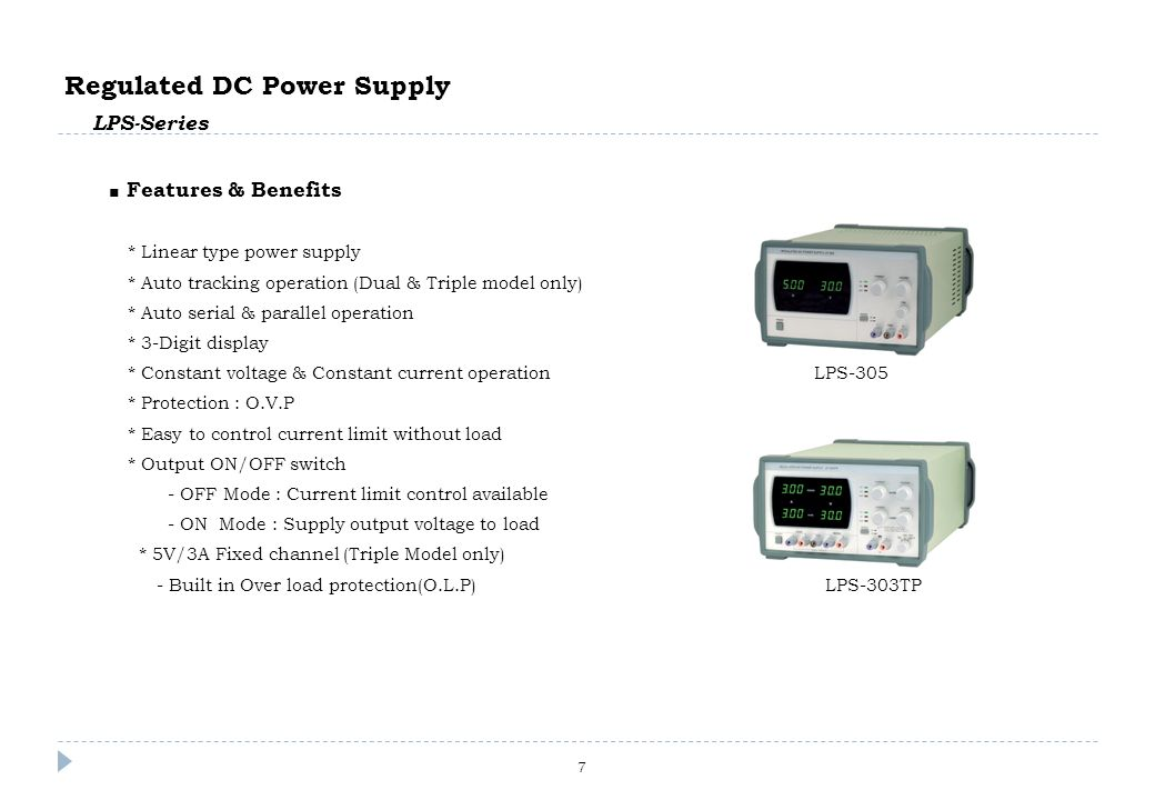 7 programmable dc power supply eps series features benefits rh slideplayer com