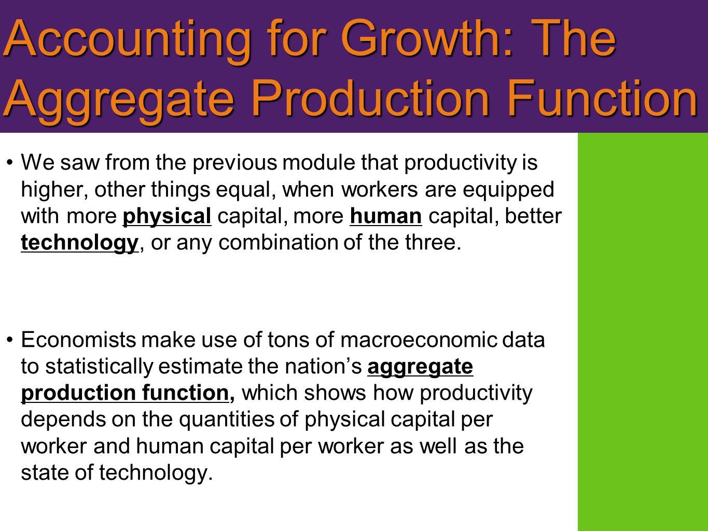 pump primer : define aggregate production function ppt download