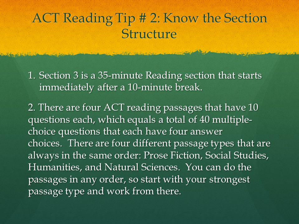 Five Must-Know Reading Tips for the ACT The reading test