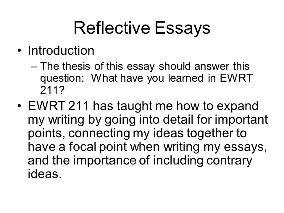 Computer Science Essay Topics  Reflective Essays Introduction  My First Day Of High School Essay also Essay Proposal Outline Welcome To De Anza Agenda Schedule Reflective Essays  Ppt Download English Essay Topics