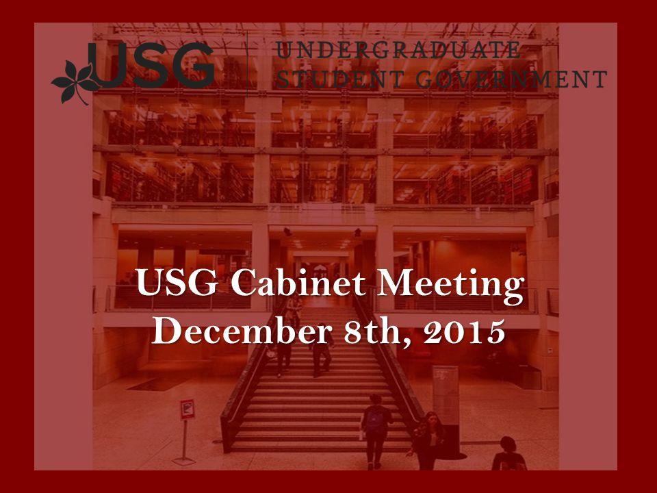 Usg Cabinet Meeting December 8th Update From Internal Affairs