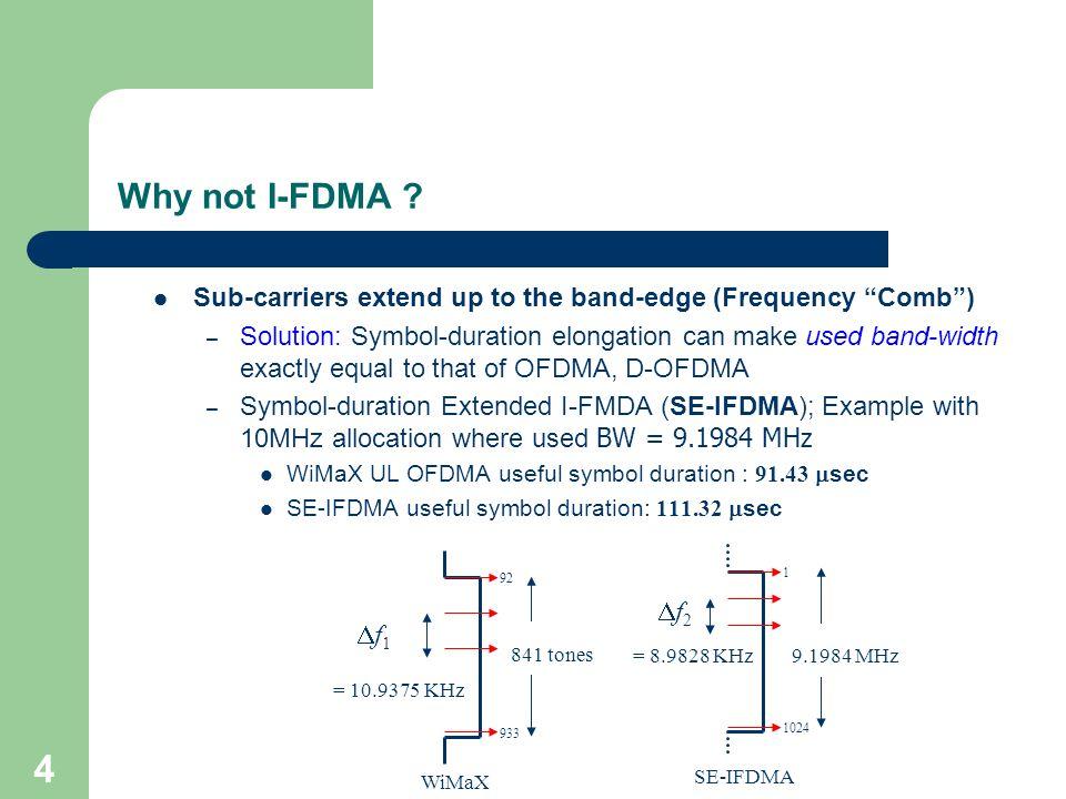 Symbol Duration Extended Interleaved Fdma As Uplink Multiple Access