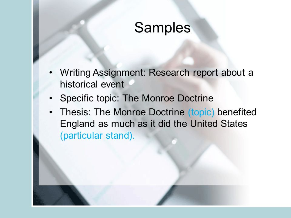 monroe doctrine research paper thesis