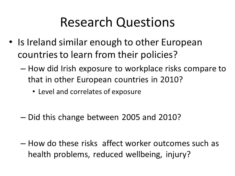 Workplace Risks and Worker Outcomes from a Comparative