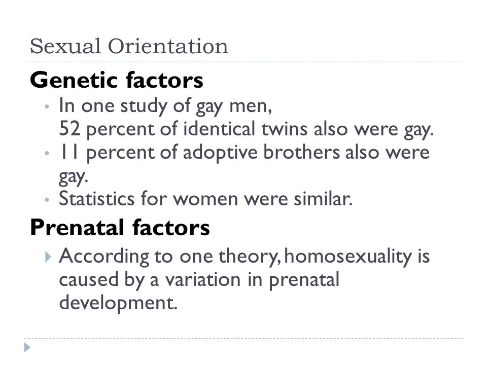 Sexual orientation factors
