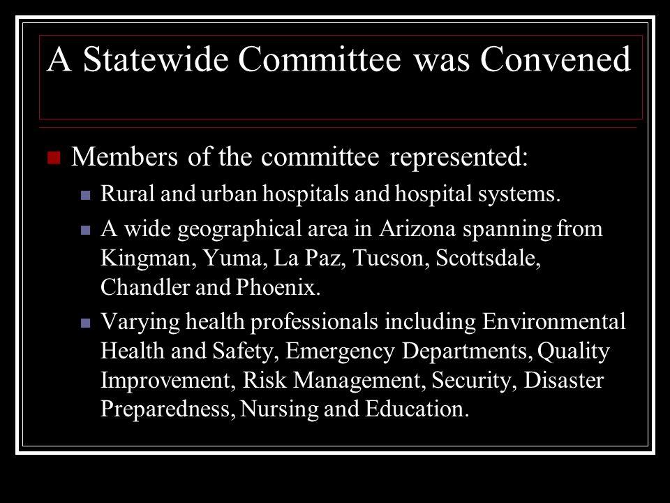 AZ Standardization of Code Alerts A 2009 statewide patient