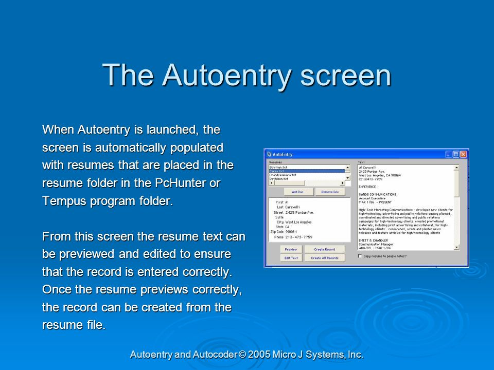 autoentry and autocoder efficiently creating and coding people