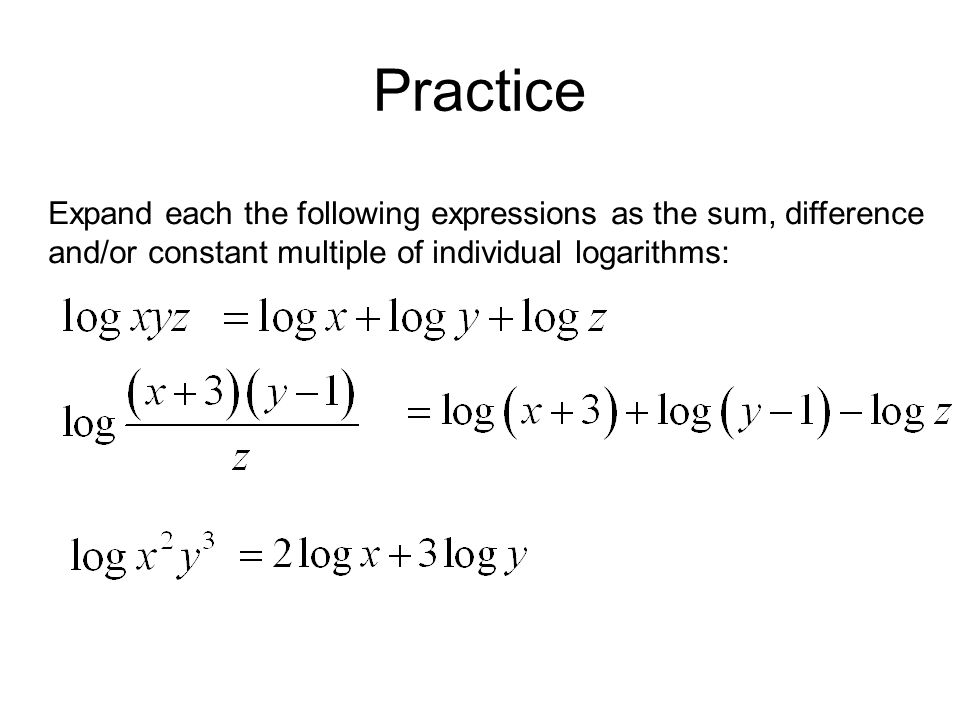 power property of logarithms