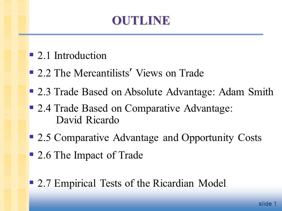 david ricardo theory of international trade