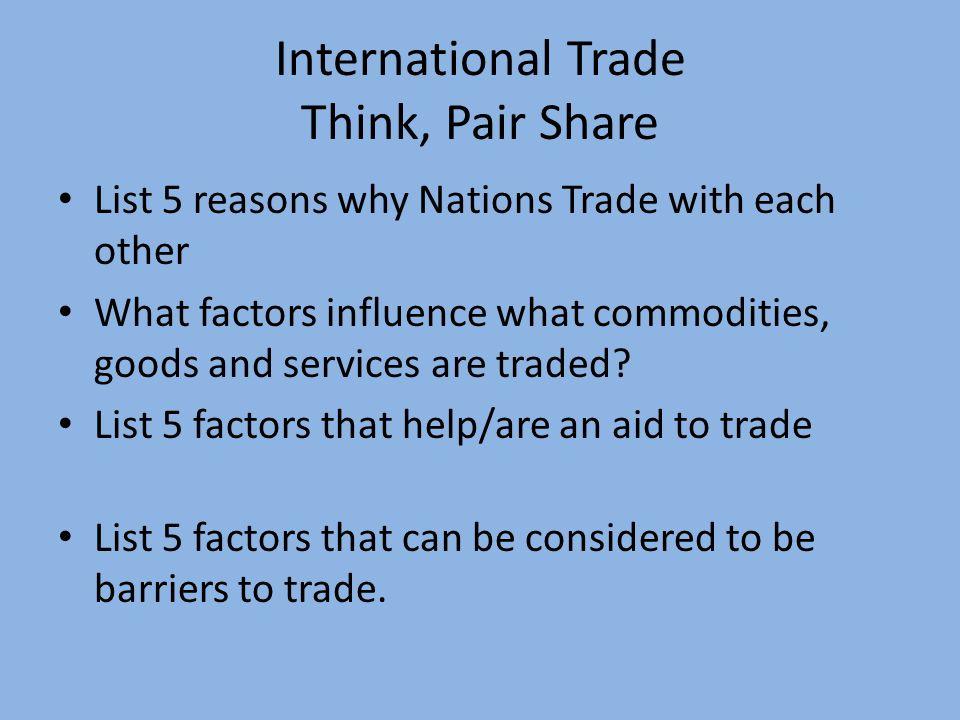 5 reasons international trade