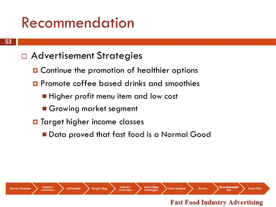 fast food target market segment