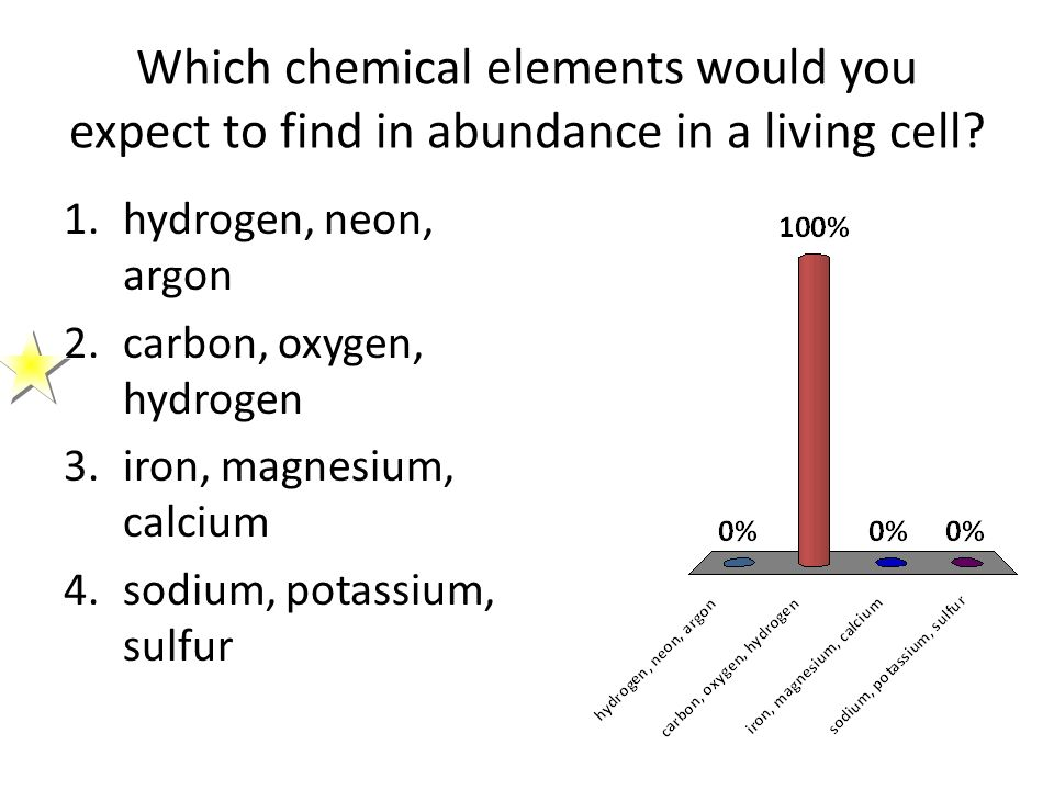 Which Chemical Elements Would You Expect To Find In Abundance In A Living Cell