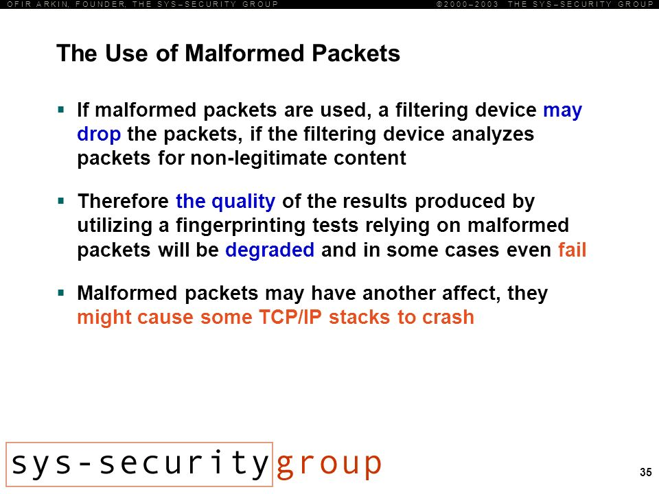 What Causes Malformed Packets