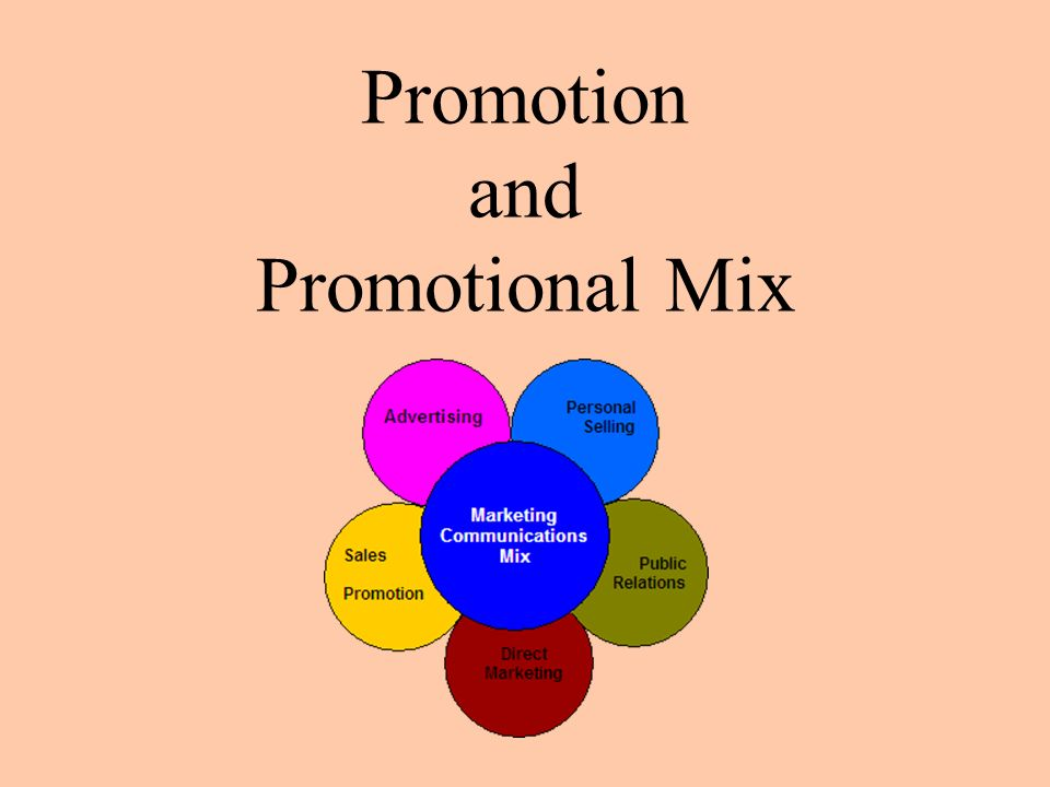 describe the promotional mix