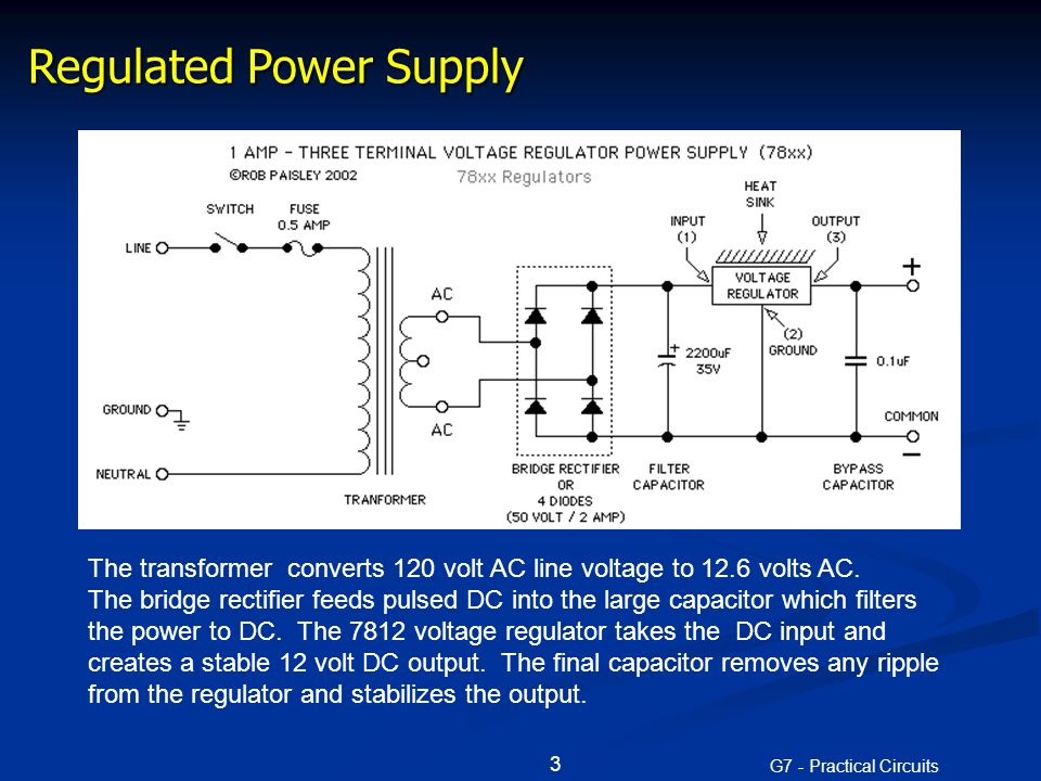 G7 - Practical Circuits 1 G7 - PRACTICAL CIRCUITS [3 exam ... Dc Power Supply Schematic Diagram Symbol on