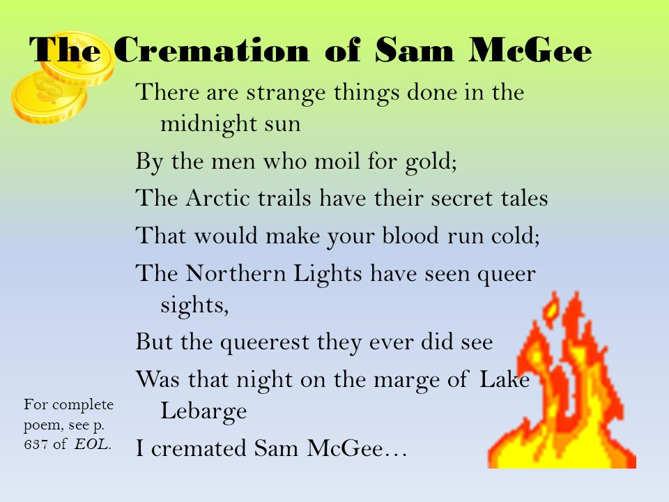 the cremation of sam mcgee analysis