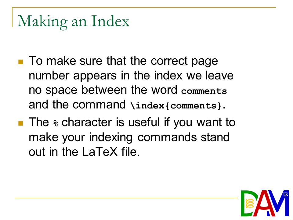 Chapter 5 More About LaTex  Packages A package, which takes