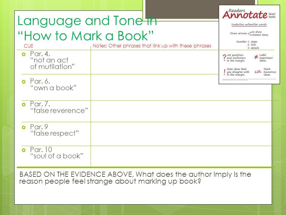 mortimer j adler how to mark a book