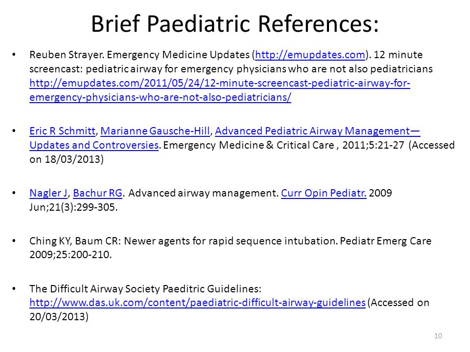 8 Essential Emergency Airway Care- Paediatric Considerations