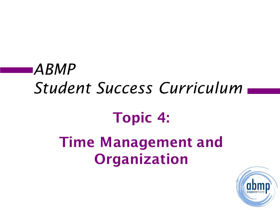 time management topic