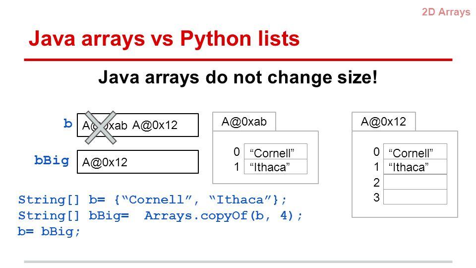 Recitation 3 2D Arrays, Exceptions  2D arrays 2D Arrays Many