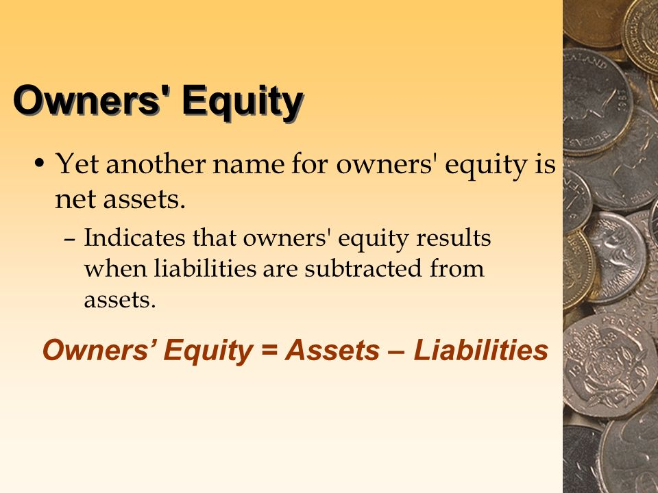 owners equity yet another name for owners equity is net assets