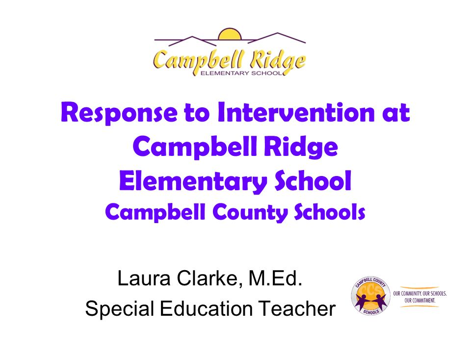 Response to Intervention at Campbell Ridge Elementary School