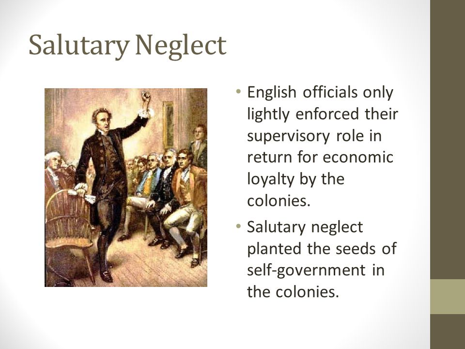 examples of salutary neglect