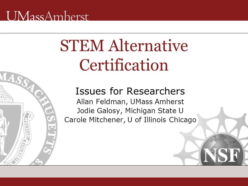 The Alternative Certification Of Science Teachers Findings From The