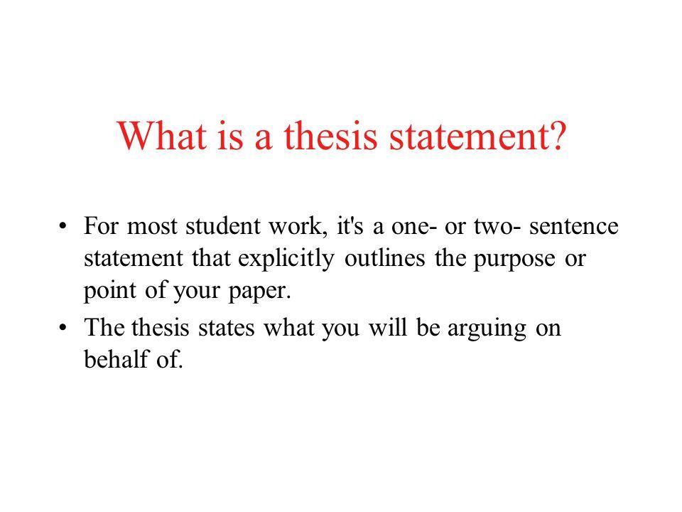 2 sentence thesis statement
