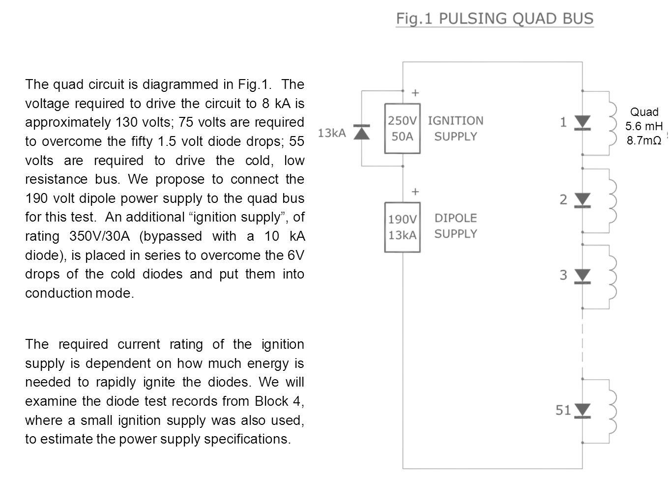 A PROPOSAL TO PULSE THE MAGNET BUSES TO VALIDATE SPLICE