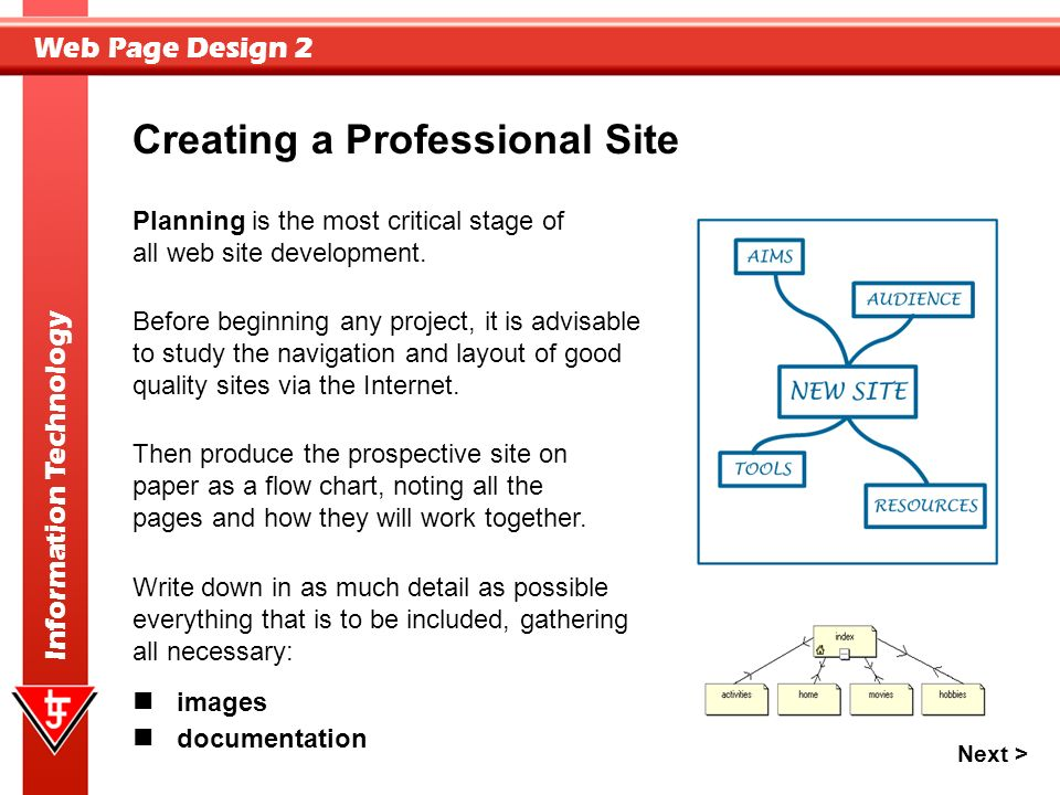 Web Page Design 2 Information Technology Web Page Design This