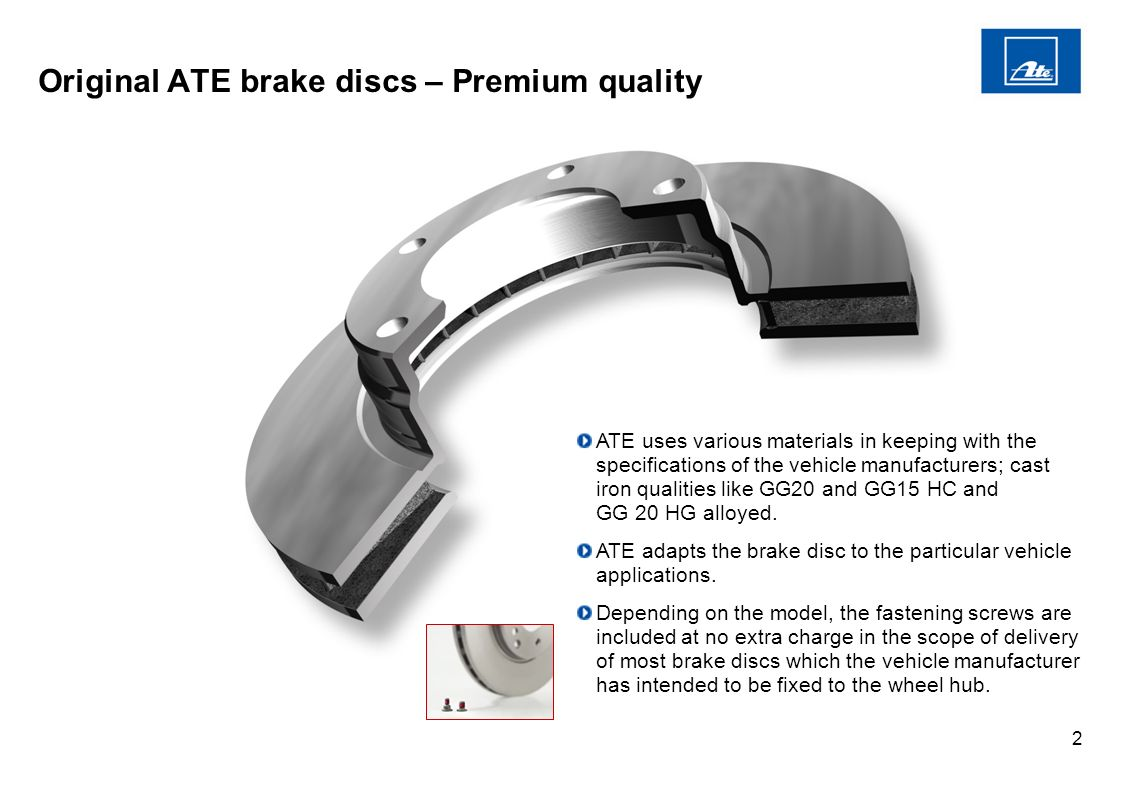 1 Original ATE brake discs– Utmost safety in any driving