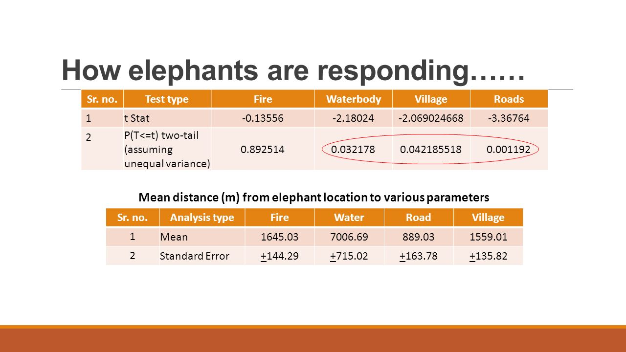 How elephants are responding…… Sr.