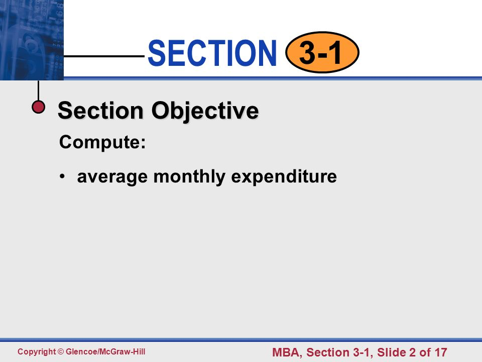 average monthly expenditures pp section ppt download