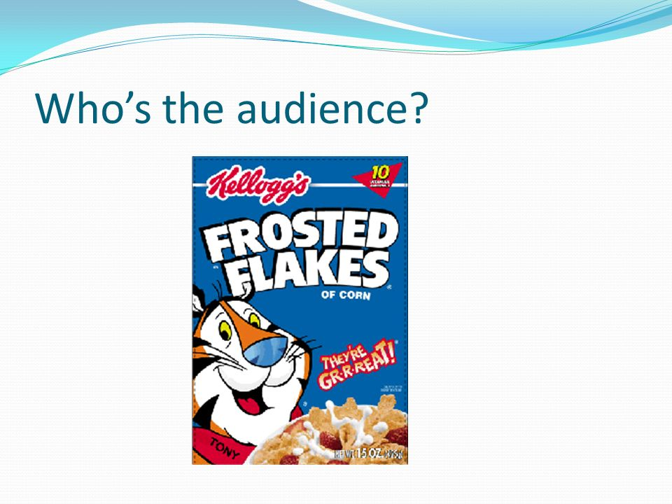 Who's the audience