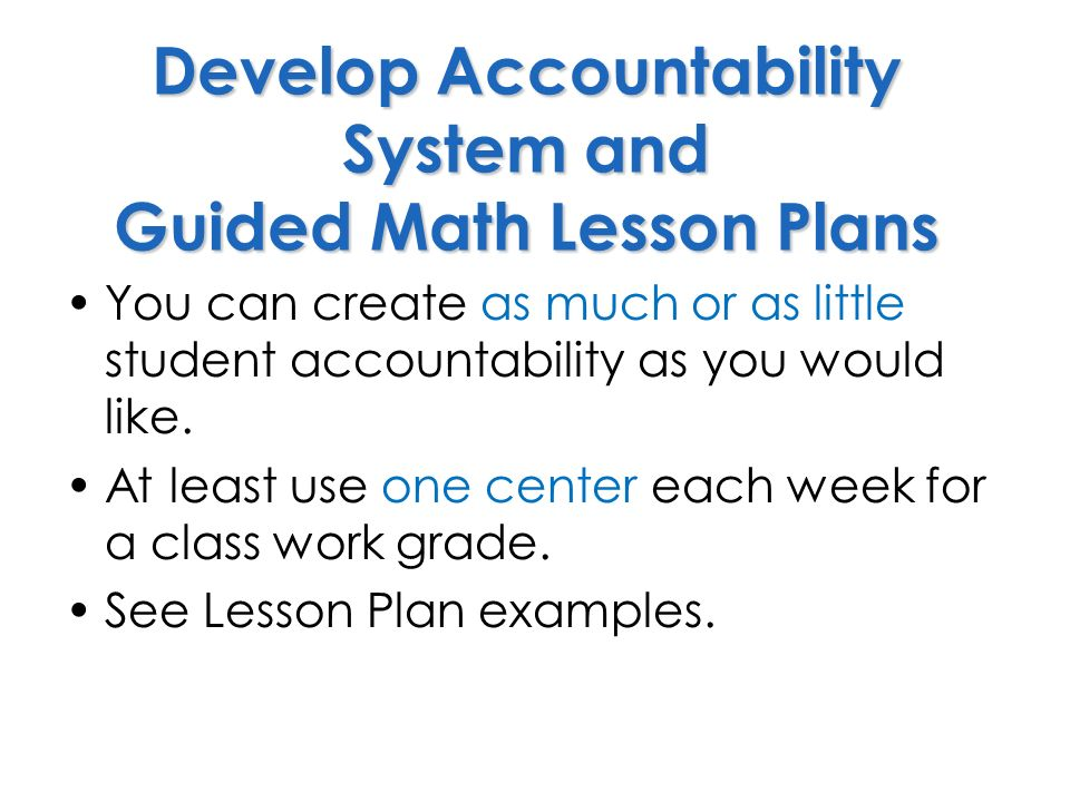 Guided Math Whats Next Adopted From Resources Provided By The