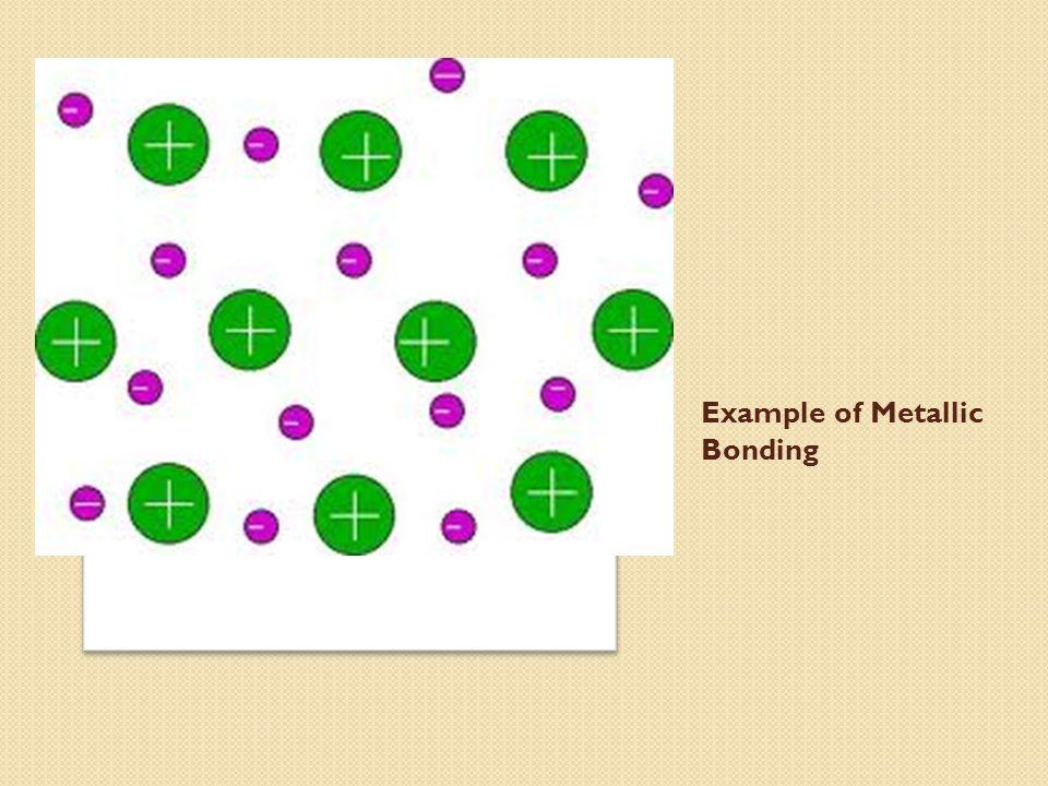 3 example of metallic bonding