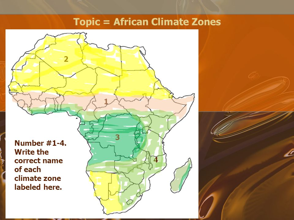 Labeled Africa Desert Map.Topic African Countries Number 1 7 Write The Correct