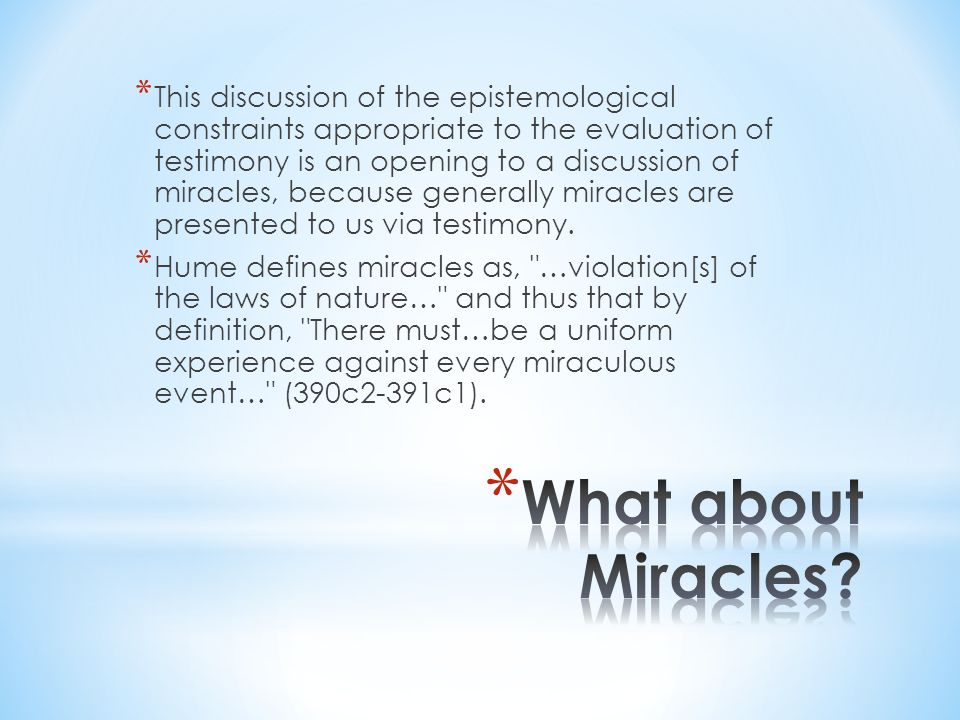 miraculous definition