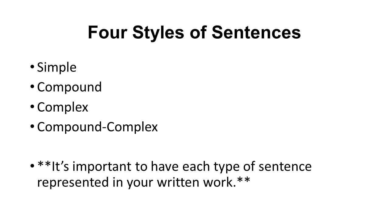 sentence style examples