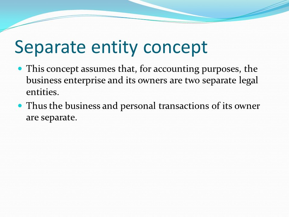 meaning of business entity concept
