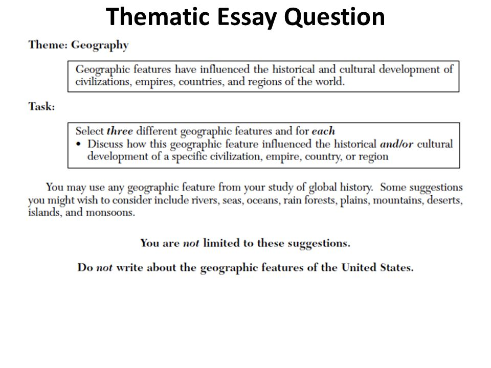 Regents Thematic Essay Geography | Mistyhamel